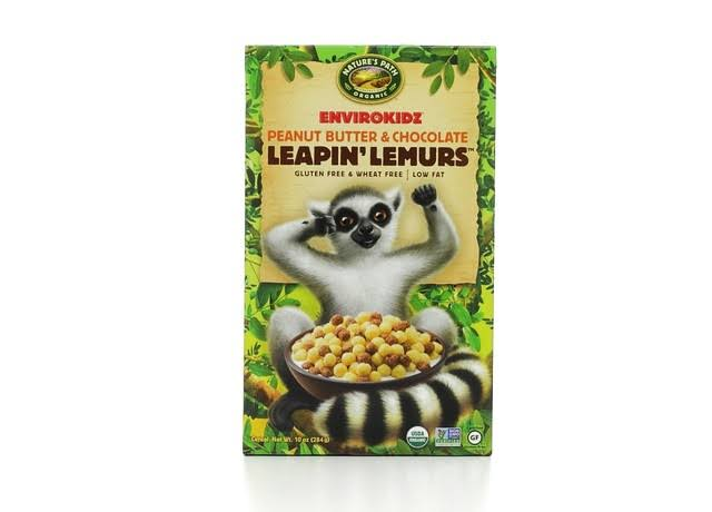 Nature's Path Envirokidz Organic Gluten Free Leapin' Lemurs Cereal - Peanut Butter and Chocolate, 284g