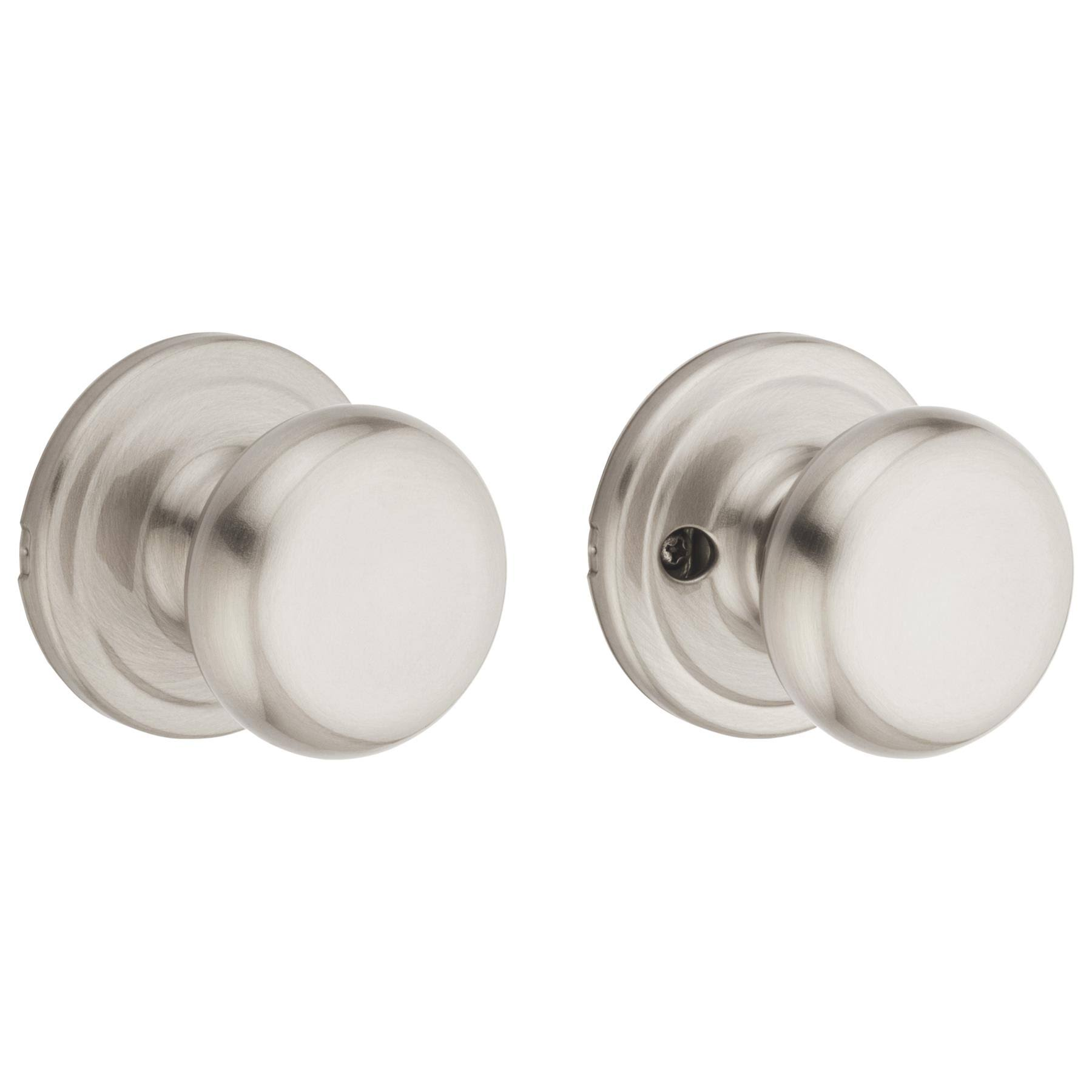 Kwikset Juno Passage Knob - Satin Nickel