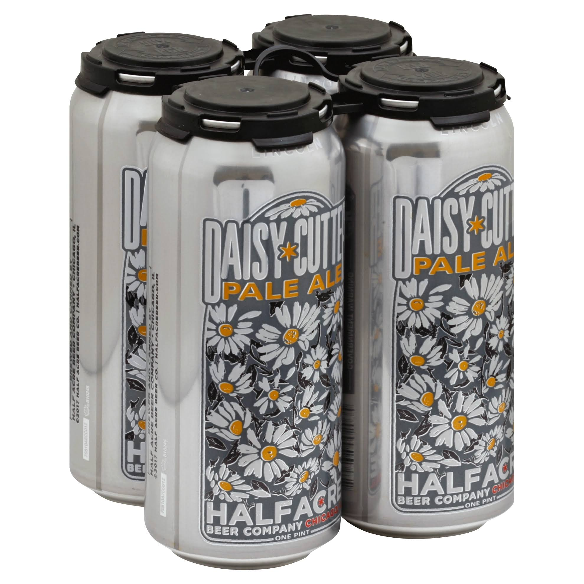 Half Acre Beer Company Beer, Pale Ale, Daisy Cutter - 4 - one pint cans