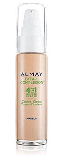 Almay Clear Complexion 500 Beige 4 in 1 Blemish Eraser Makeup 1 oz / 30ml