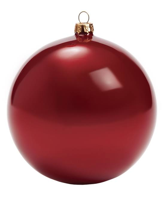 Sullivans Holiday Ornament Red Opal Ball Ornament One-Size