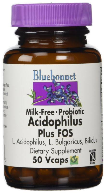 Bluebonnet Probiotic Acidophilus Plus FOS Dietar Supplement - 50 Capsules 50