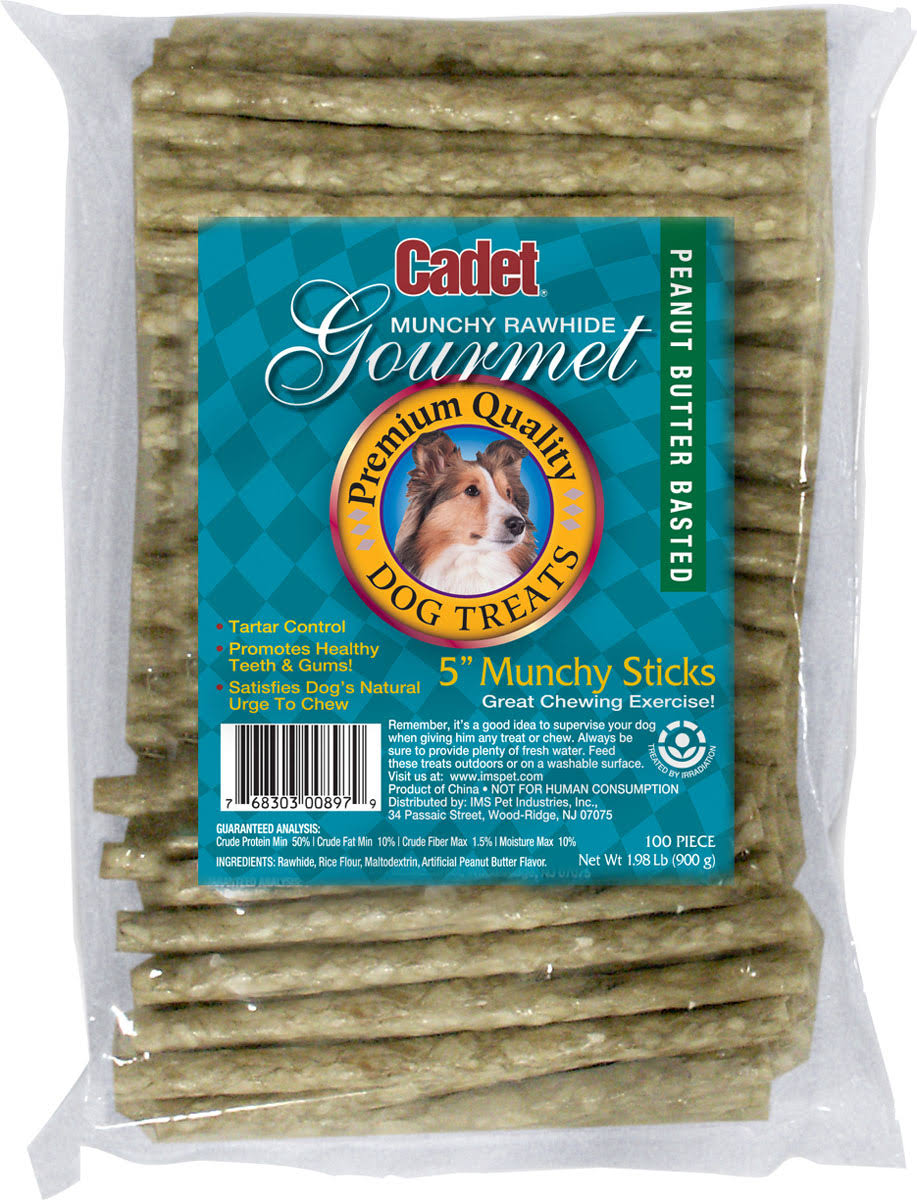 Ims Trading Rawhide Stick Dog Treats - Peanut Butter, 5in, 100pk