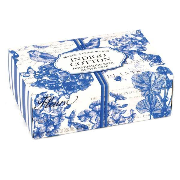 Michel Design Works 4.5oz Boxed Single Soap, Indigo Cotton
