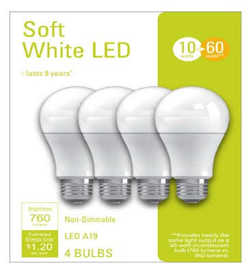 G E Lighting 32586 10W, Soft White A19 LED Light Bulb