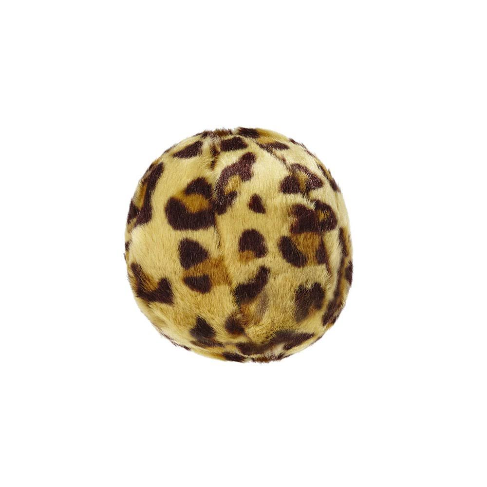Fluff & Tuff Leopard Ball Plush Dog Toy