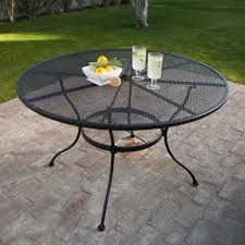 Fortunoff Patio Furniture Covers by Belham Living Stanton 48 In Round Wrought Iron Patio Dining Table