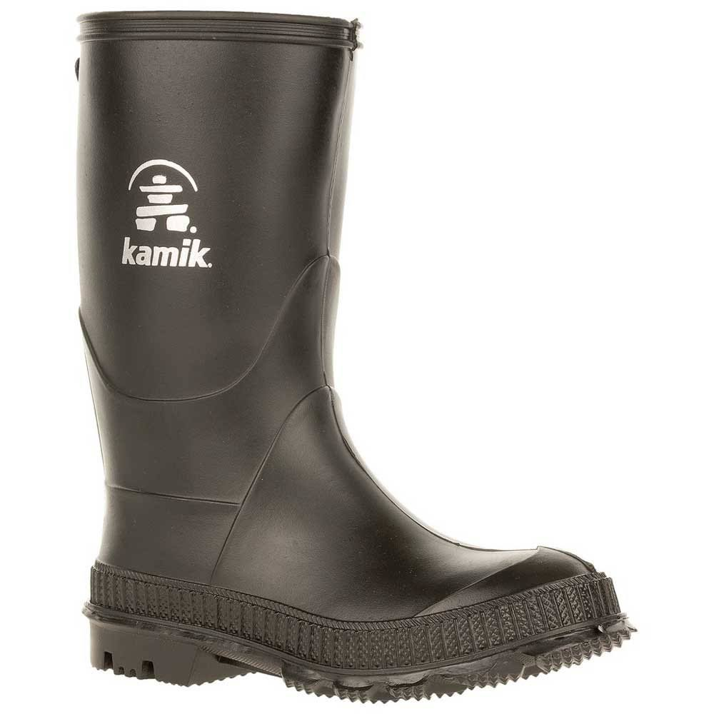 Kamik Kid's Stomp Waterproof Rain Boots - Black, 11 US Kids