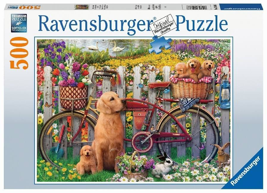 Ravensburger 15036 Cute Dogs in The Garden 500pc Jigsaw Puzzle