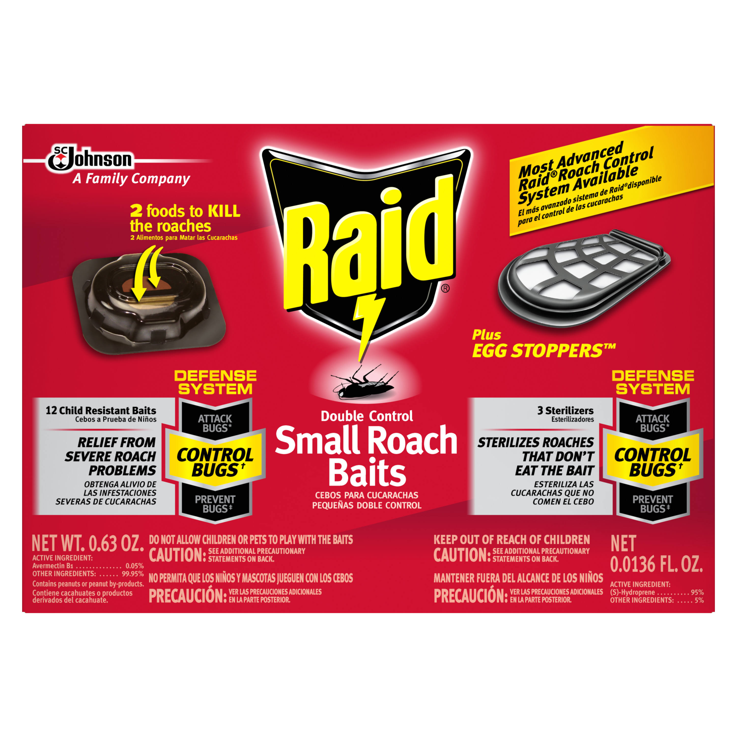 SC Johnson Raid Double Control Small Roach Baits