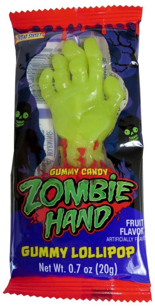 Zombie Hand Gummy Lollipop - 24pk