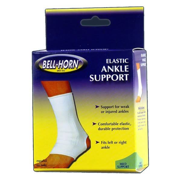 Bell-Horn Elastic Ankle Support White/Beige, Size: Medium
