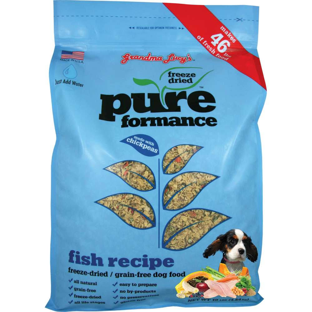 Grandma Lucy's Freeze-Dried Grain-Free Dog Food - Fish Recipe, 10 lbs