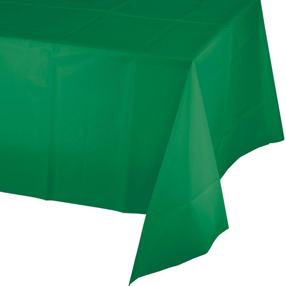 "Creative Converting 01191B Plastic Tablecover - Emerald Green, 54"" X 108"""