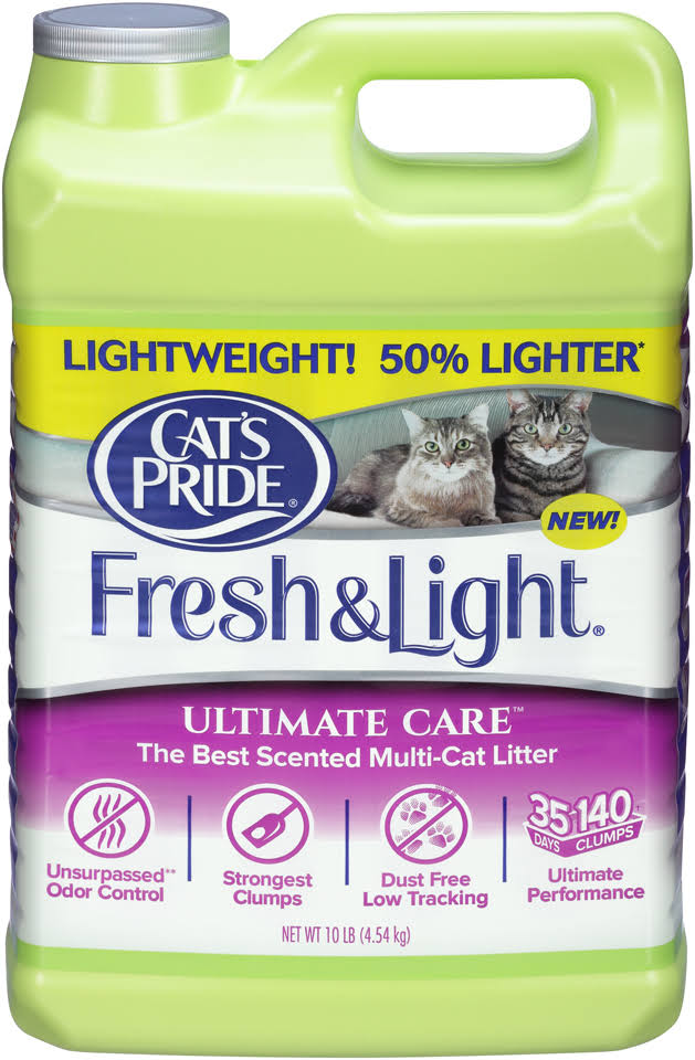 Cat's Pride Fresh and Light Ultimate Care Scented Multi-Cat Litter - 10lbs