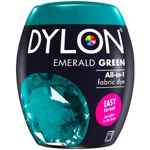 Dylon All in One Fabric Dye Pod - Emerald Green, 350g