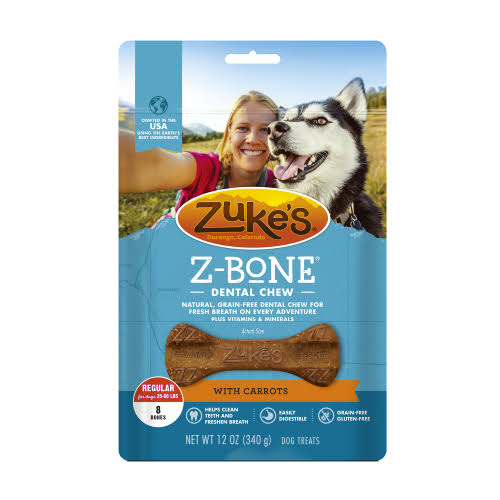 Zuke's Z-Bone Edible Grain-Free Dental Dog Chew - Clean Carrot Crisp