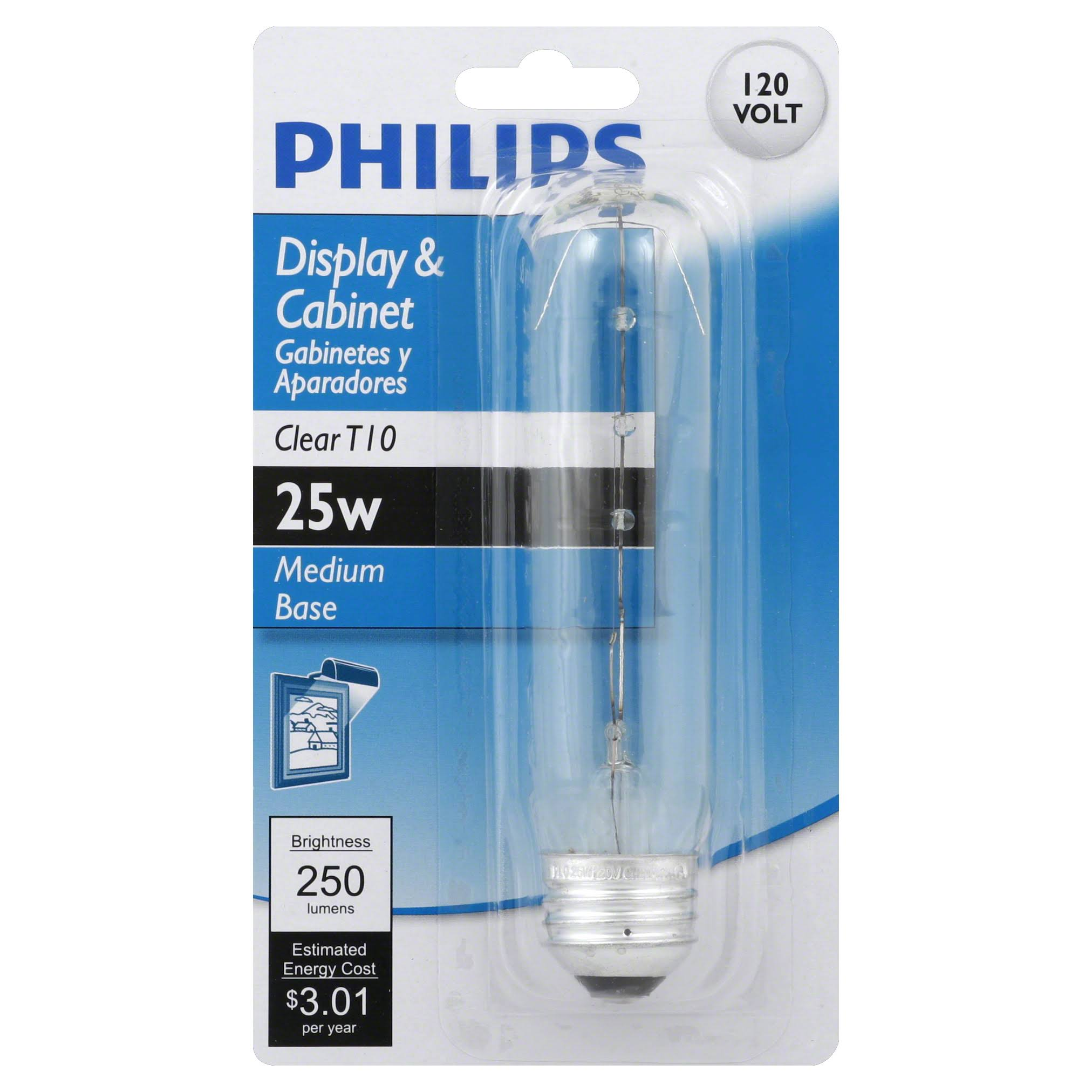 Philips Display and Cabinet T10 Light Bulb - 25W, Clear