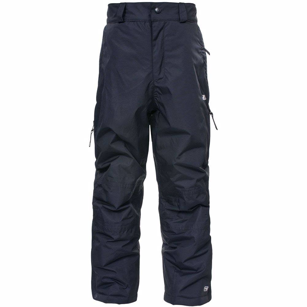 Trespass Kids Marvelous Unisex Snow Pant - Black, Size 7/8
