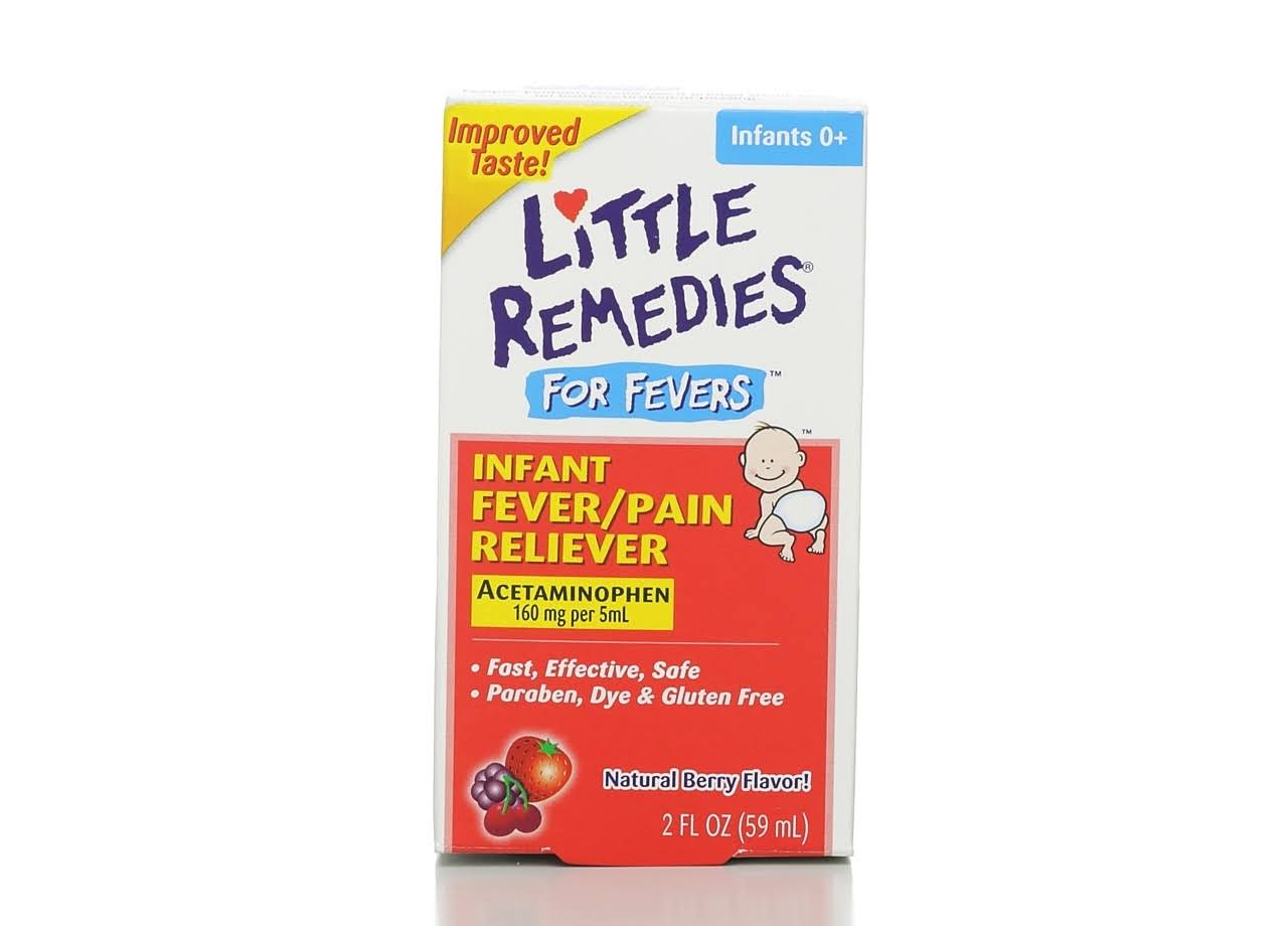 Little Remedies Infant Fever + Pain Reliever Infants 2-3 Years - 2 oz