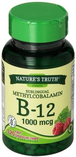 Nature's Truth Vitamin B 12 Dietary Supplement - Natural Berry Flavor, 120ct