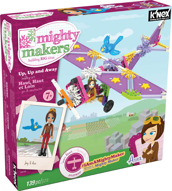 K'Nex Mighty Makers Up Up And Away Building Set - 139 Pieces
