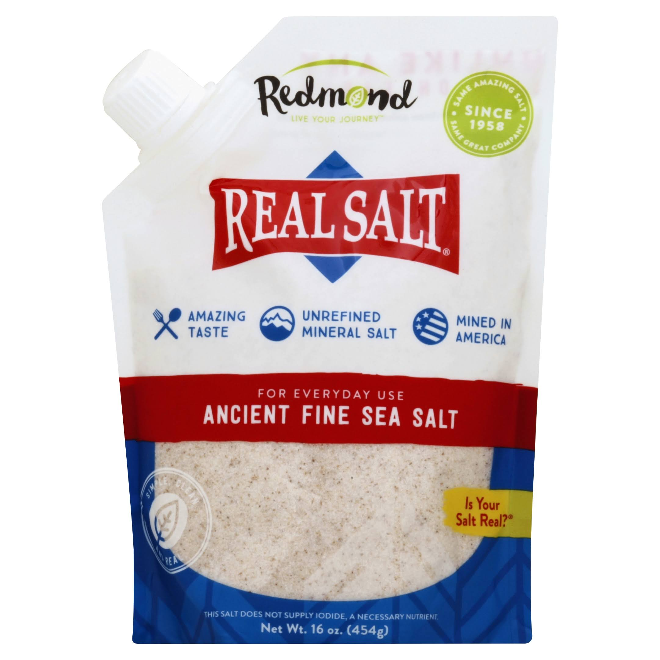 Real Salt Sea Salt, Ancient, Fine - 16 oz