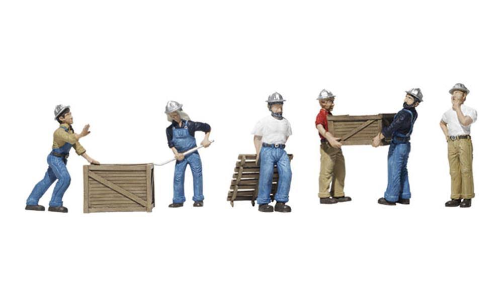 Woodland Scenics Dock Workers HO Train Figures