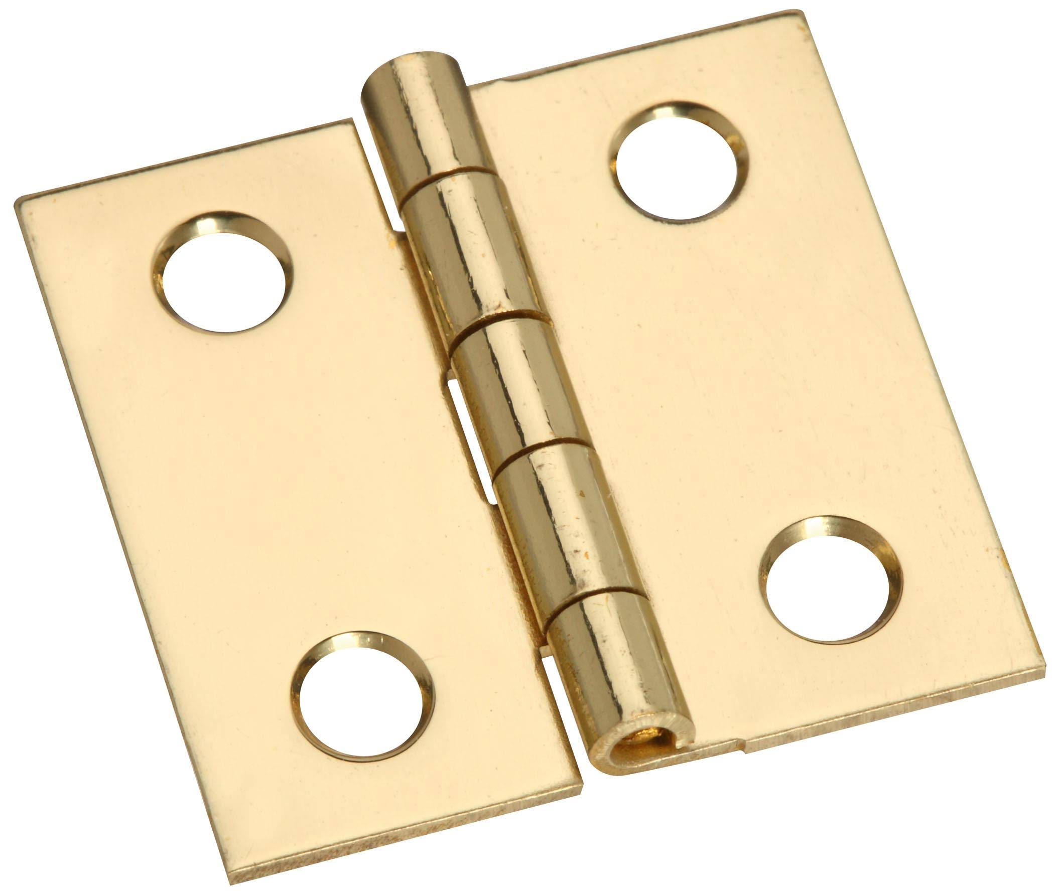 National Hardware Broad Hinge - Brass, 1x1""