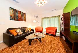 Brown Living Room Decorations by College Apartment Living Room Ideas With Brown And Orange Colors