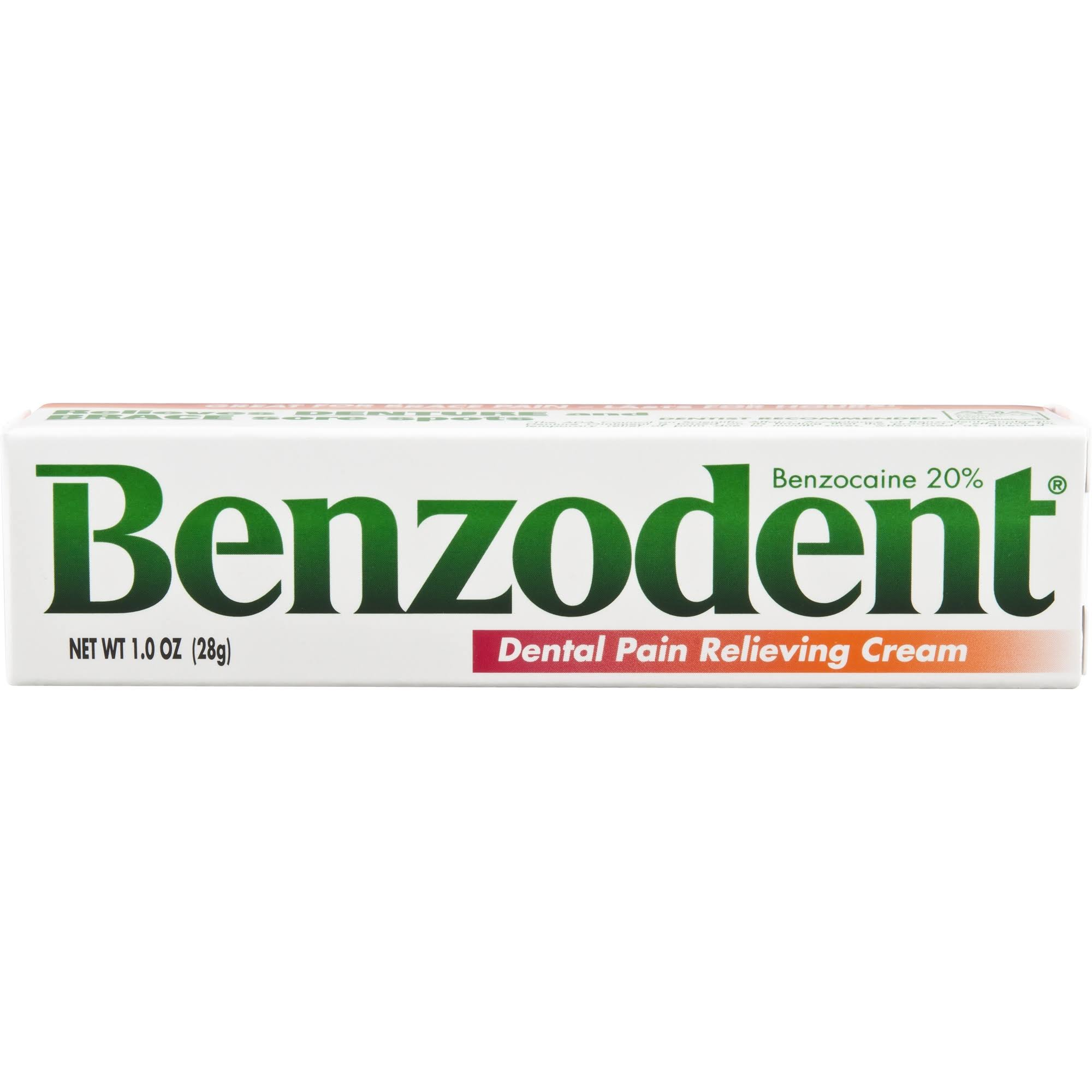 Benzodent Denture Pain Cream, 1 oz (1-3 Units)