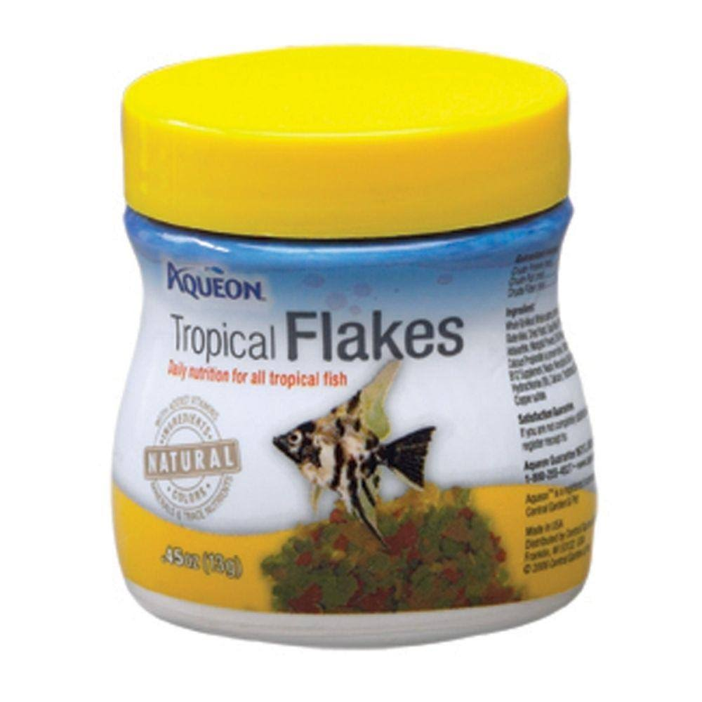 Aqueon Tropical Flakes Natural Fish Food - 0.45oz