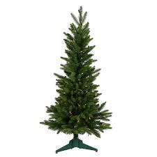 Vickerman Flocked Slim Christmas Tree by Shop Vickerman 3 Ft Pre Lit Frasier Fir Slim Artificial Christmas