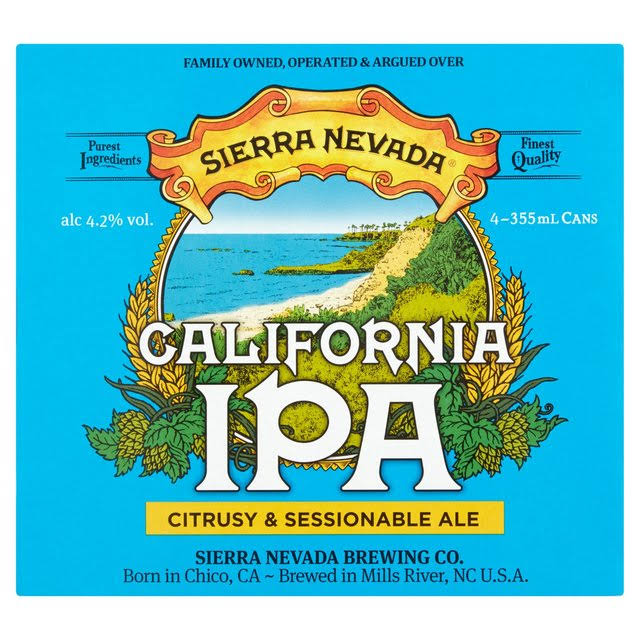 Sierra Nevada California IPA - 4 x 355ml