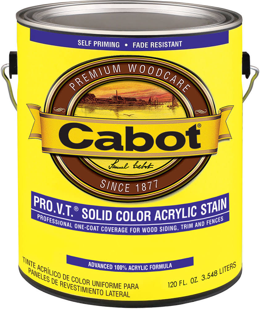 Cabot Solid Color Acrylic Siding Exterior Stain - 1 Gallon, Deep Base
