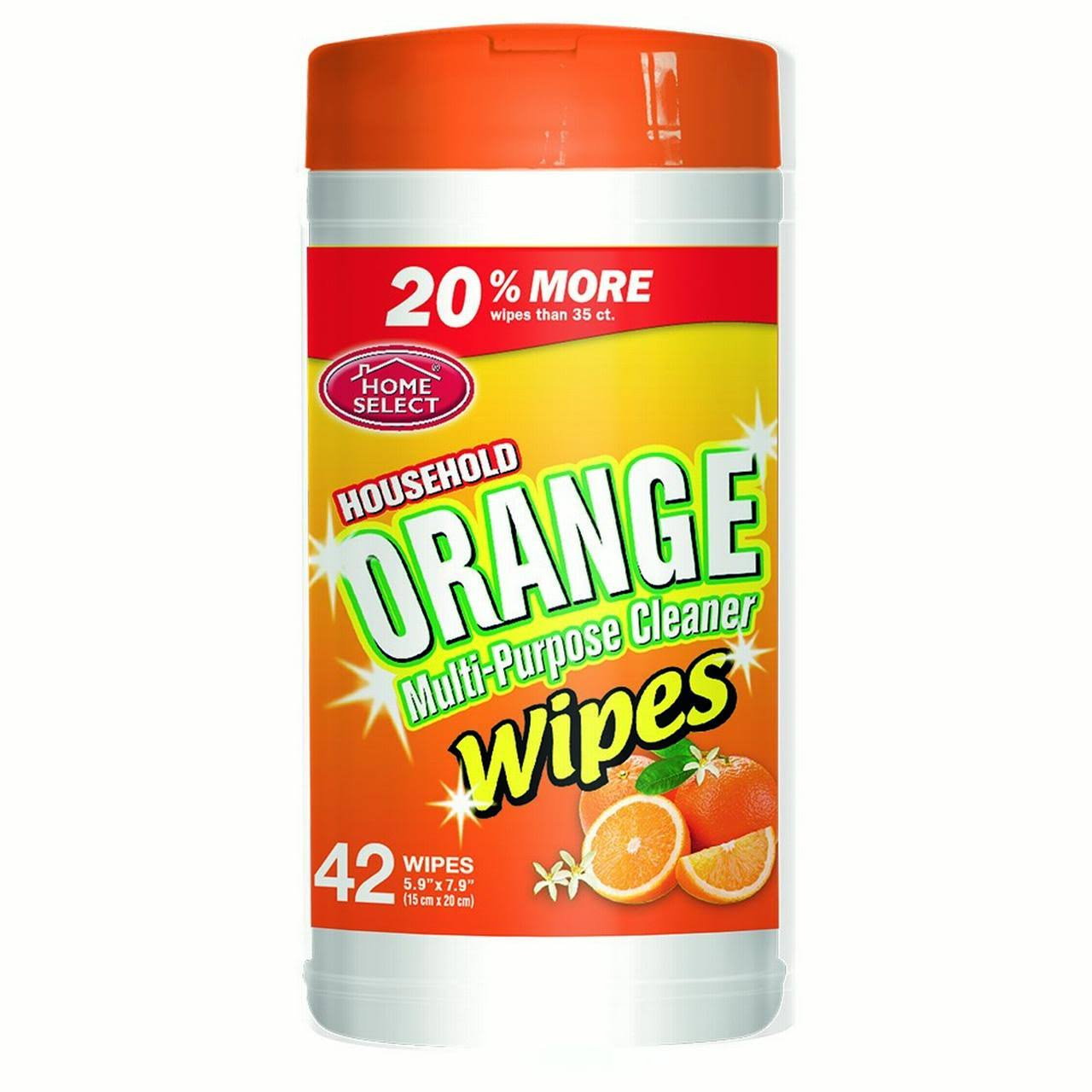 Home Select Multi-Purpose Wipes - Orange, 35ct