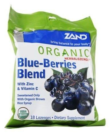 Zand Organic HerbaLozenge Blue-Berries Blend Herbal Supplement - 18ct