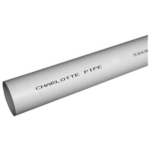 Charlotte Pipe & Foundry Co. 3-Inch x 10-ft. PVC Schedule 40 DWV Pipe PVC043000600HC
