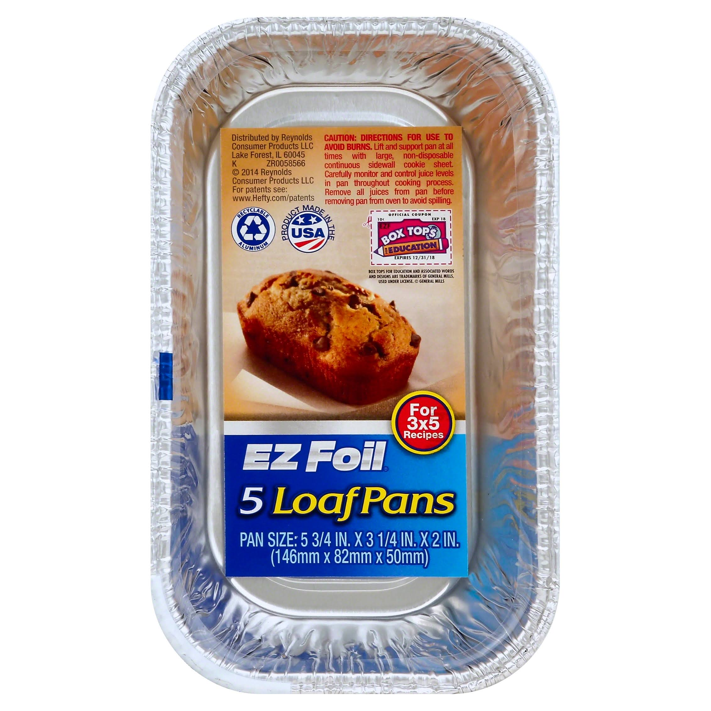 Hefty Ez Foil Loaf Pan - x5