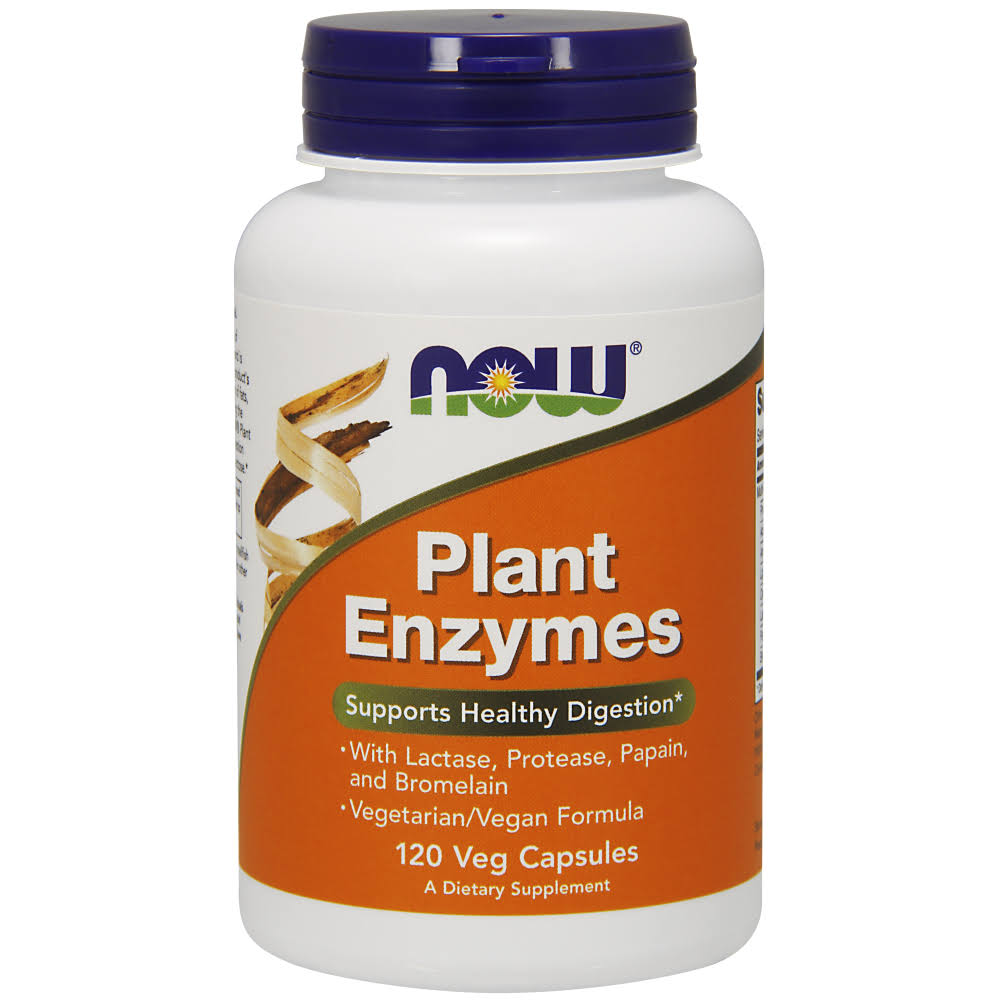 Now Plant Enzymes Dietary Supplement - 120 Capsules