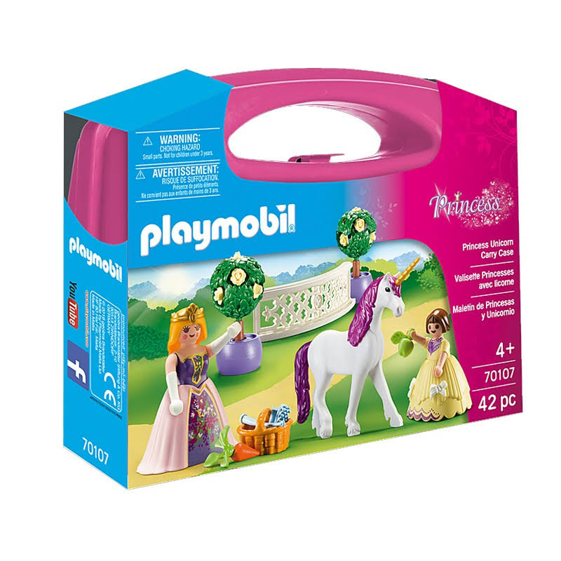 Playmobil Princess Unicorn Carry Case - 42pcs