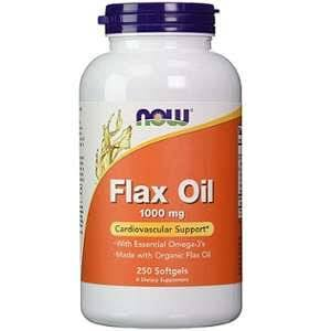 Now Foods Flax Oil 1000mg Softgels - x250