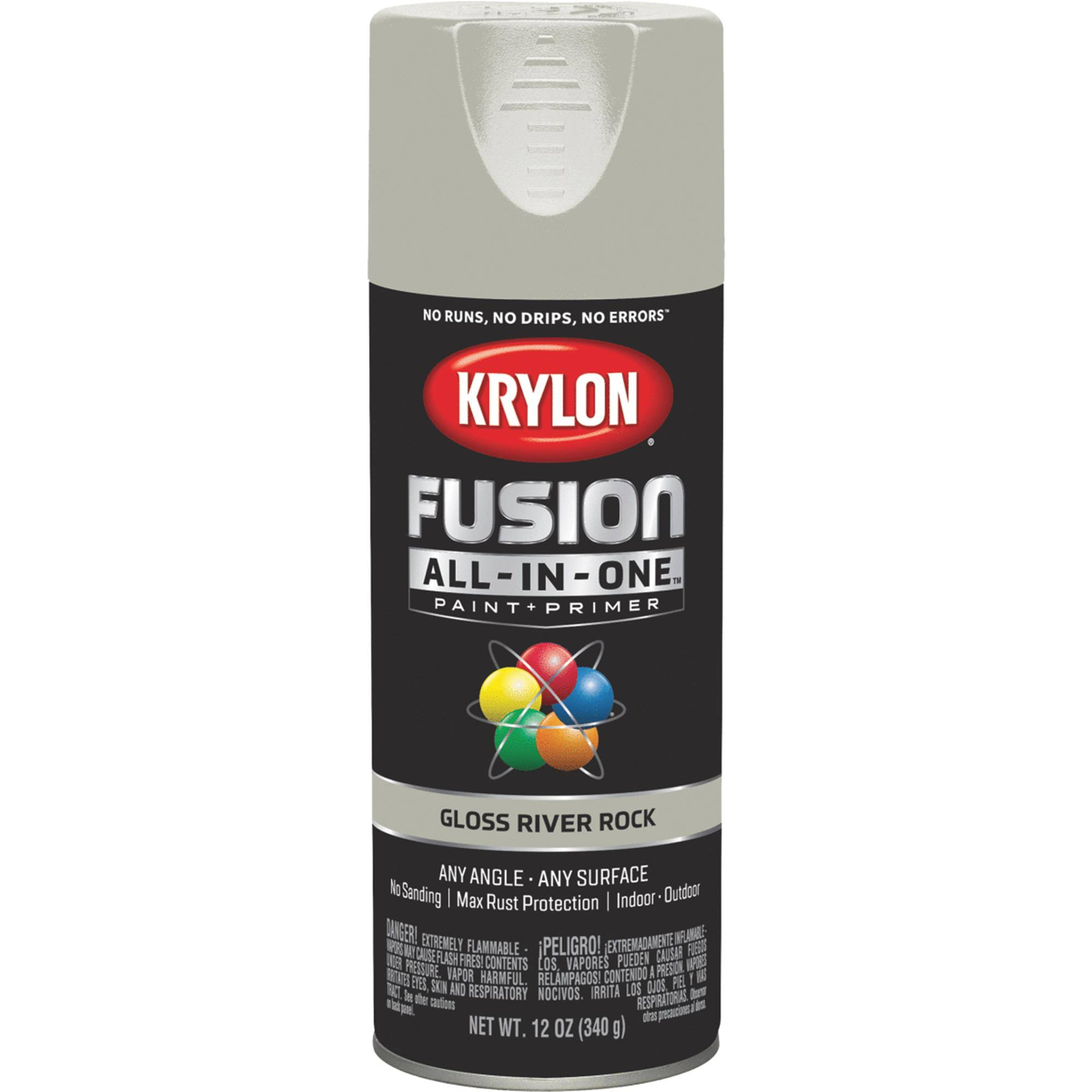 Krylon K02721007 Fusion All-in-One Spray Paint, River Rock