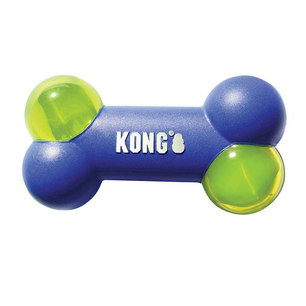 Kong Squeezz Action Bone Dog Toy Blue Large