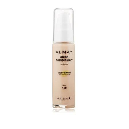 Almay Clear Complexion Makeup Foundation with 4 in 1 Blemish Eraser, #100 Ivory