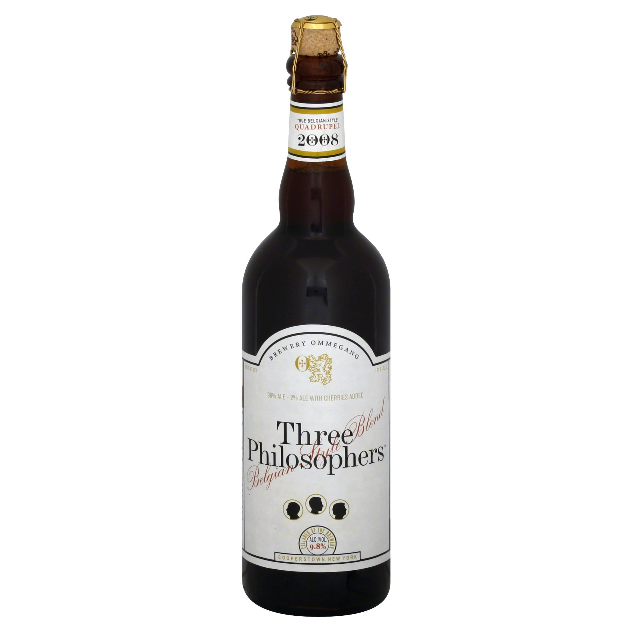 OMMEGANG Ale, Three Philosophers, Belgian Style Blend - 9.4 fl oz