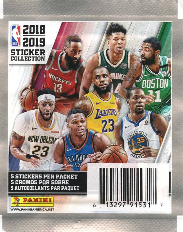 NBA Basketball Panini 2018-19 Sticker Collection Pack
