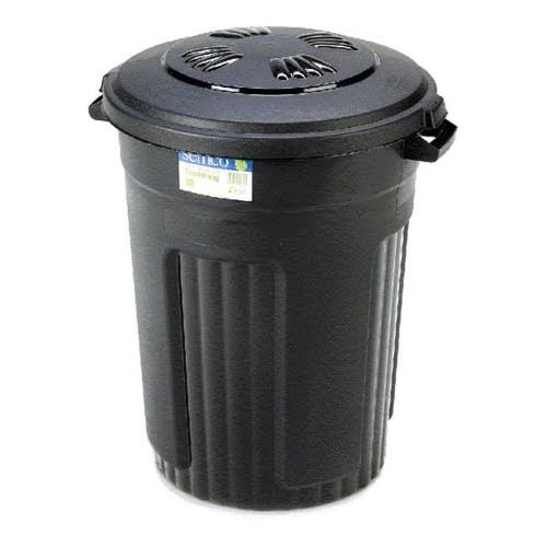 Semco Injection Molded Trash Can - Black, 32 Gallon