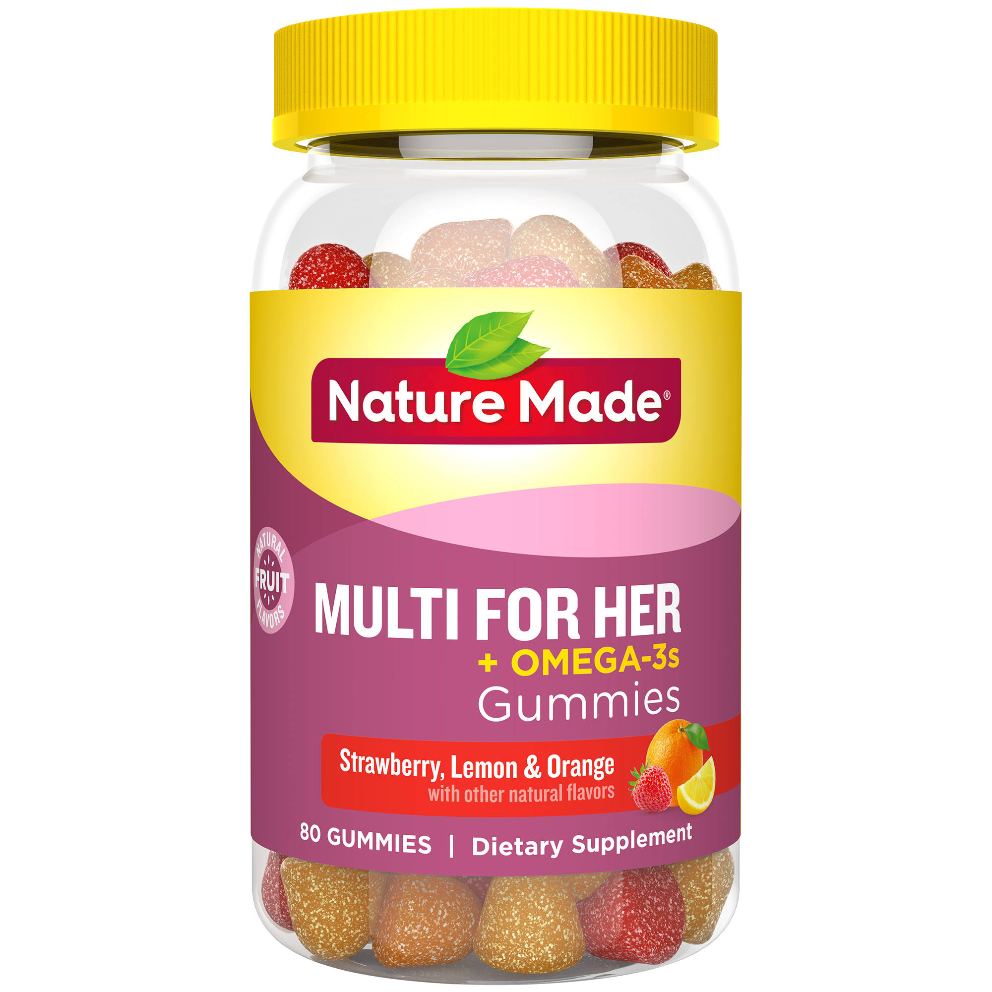 Nature Made Multi For Her Plus Omega-3 Adult Gummies Dietary Supplement - 80ct
