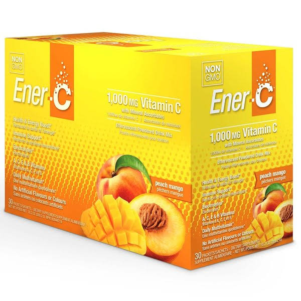 Ener-c Powdered Drink Mix - 30 Packets, Peach Mango